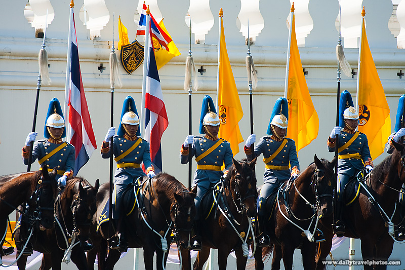 Royal Mounted Guard King's 83rd Birthday 2553 - Bangkok, Thailand - Daily Travel Photos