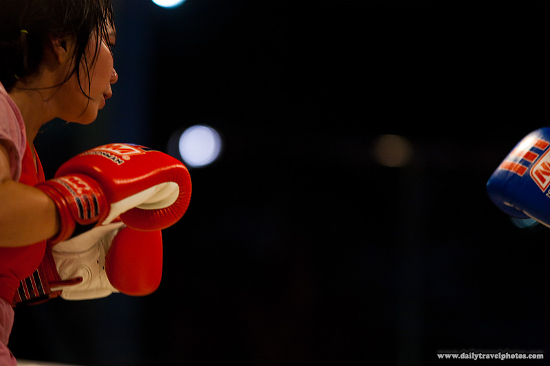 Women's Muay Thai Kickboxing Gloves Opponents - Bangkok, Thailand - Daily Travel Photos