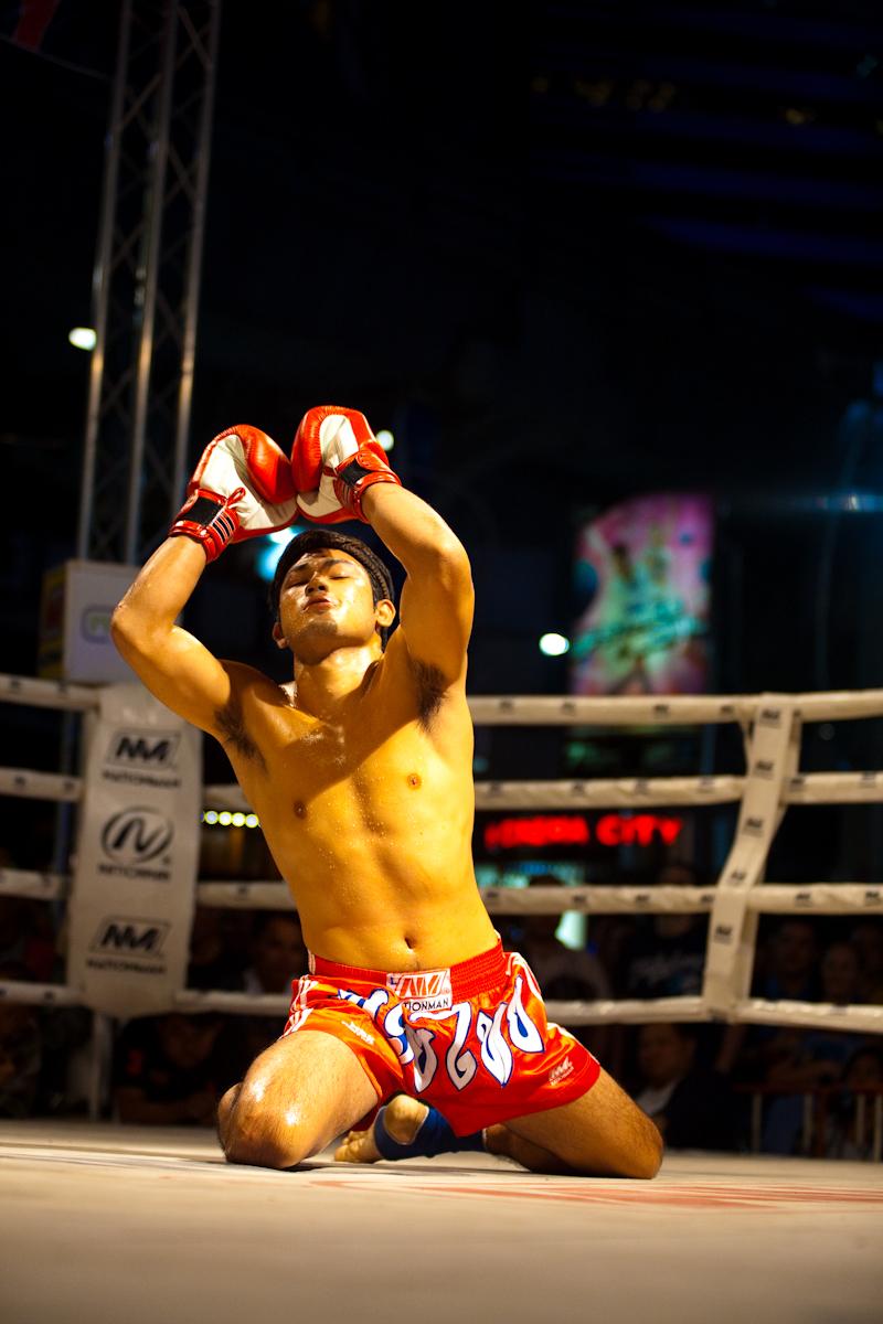 Muay Thai Wai Khru Ram Muay Kneeling Ring - Bangkok, Thailand - Daily Travel Photos