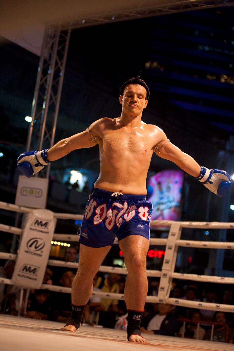 French Muay Thai Kickboxer Wai Khru Ram Muay - Bangkok, Thailand - Daily Travel Photos