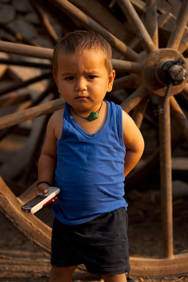 Young Indian Boy Mobile Phone Businessman - Bijapur, Karnataka, India - Daily Travel Photos