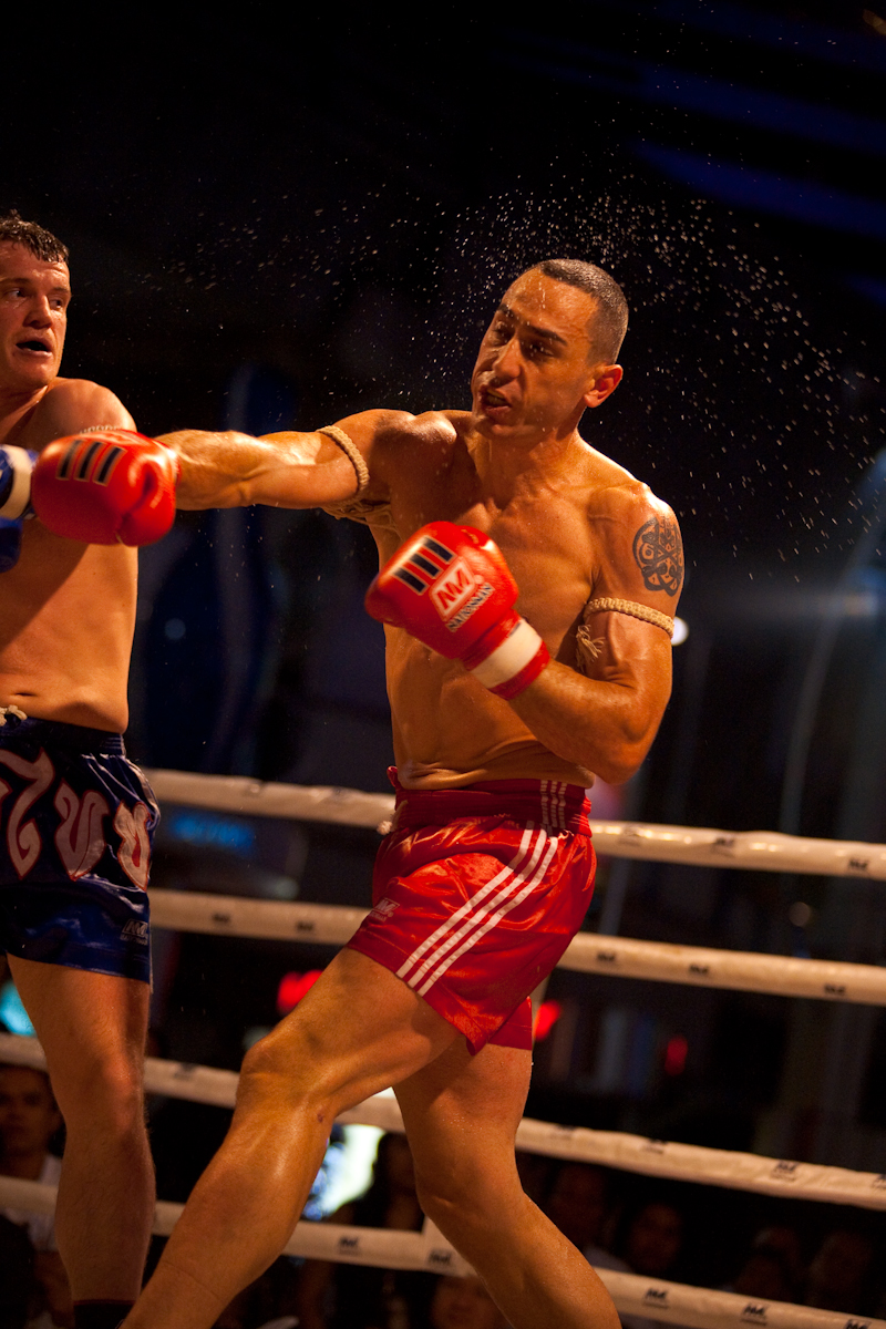 Sweat Rain Punch Muay Thai Boxing - Bangkok, Thailand - Daily Travel Photos