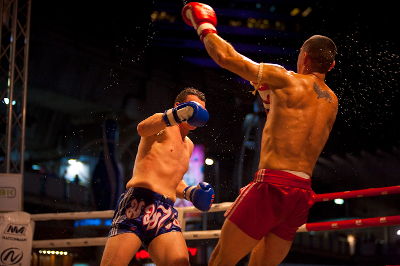 Knocked Down Punch Fall Back Muay Thai Boxing - Bangkok, Thailand - Daily Travel Photos