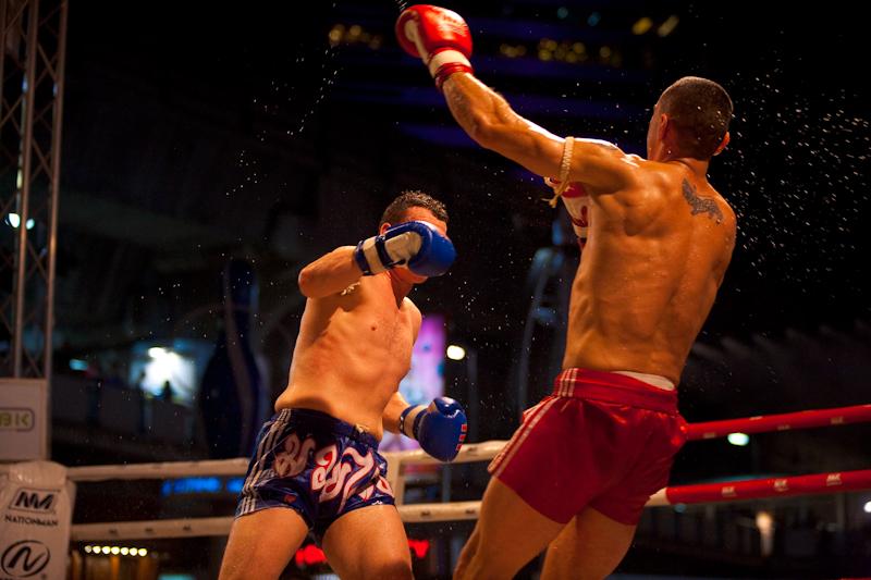 Knocked Down Punch Fall Back Muay Thai Boxing - Bangkok, Thailand - Daily Travel Photos