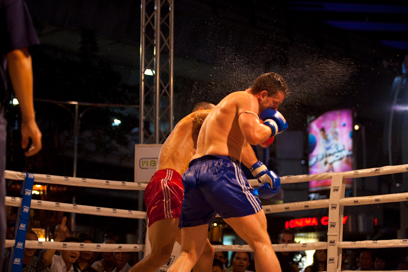 Sweat Spray Punch Muay Thai Kickboxing - Bangkok, Thailand - Daily Travel Photos