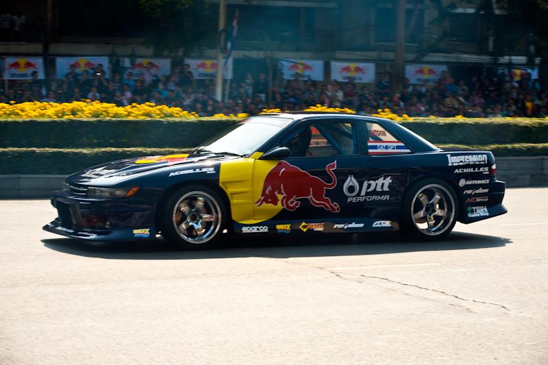 Stunt Car Formula One Ratchadamnoen Red Bull - Bangkok, Thailand - Daily Travel Photos