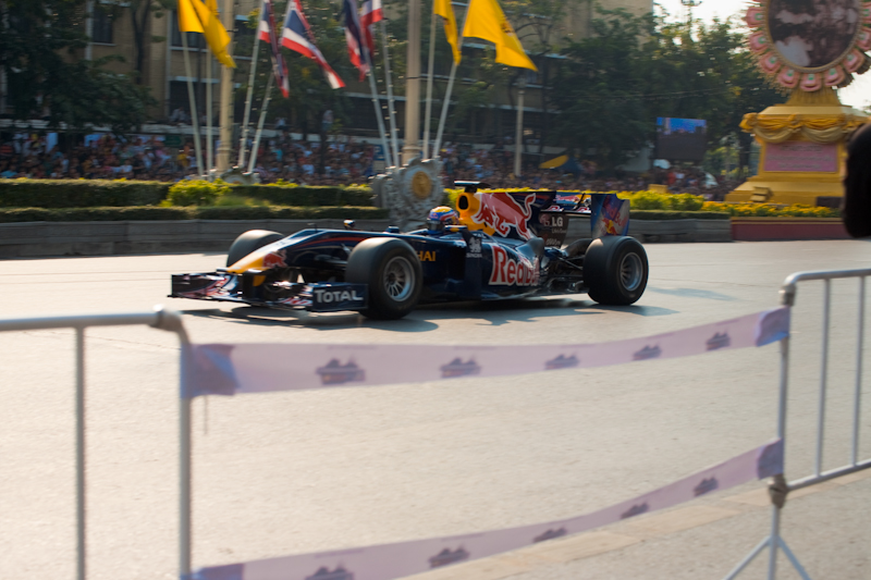Formula One Red Bull Mark Webber Ratchadamnoen - Bangkok, Thailand - Daily Travel Photos