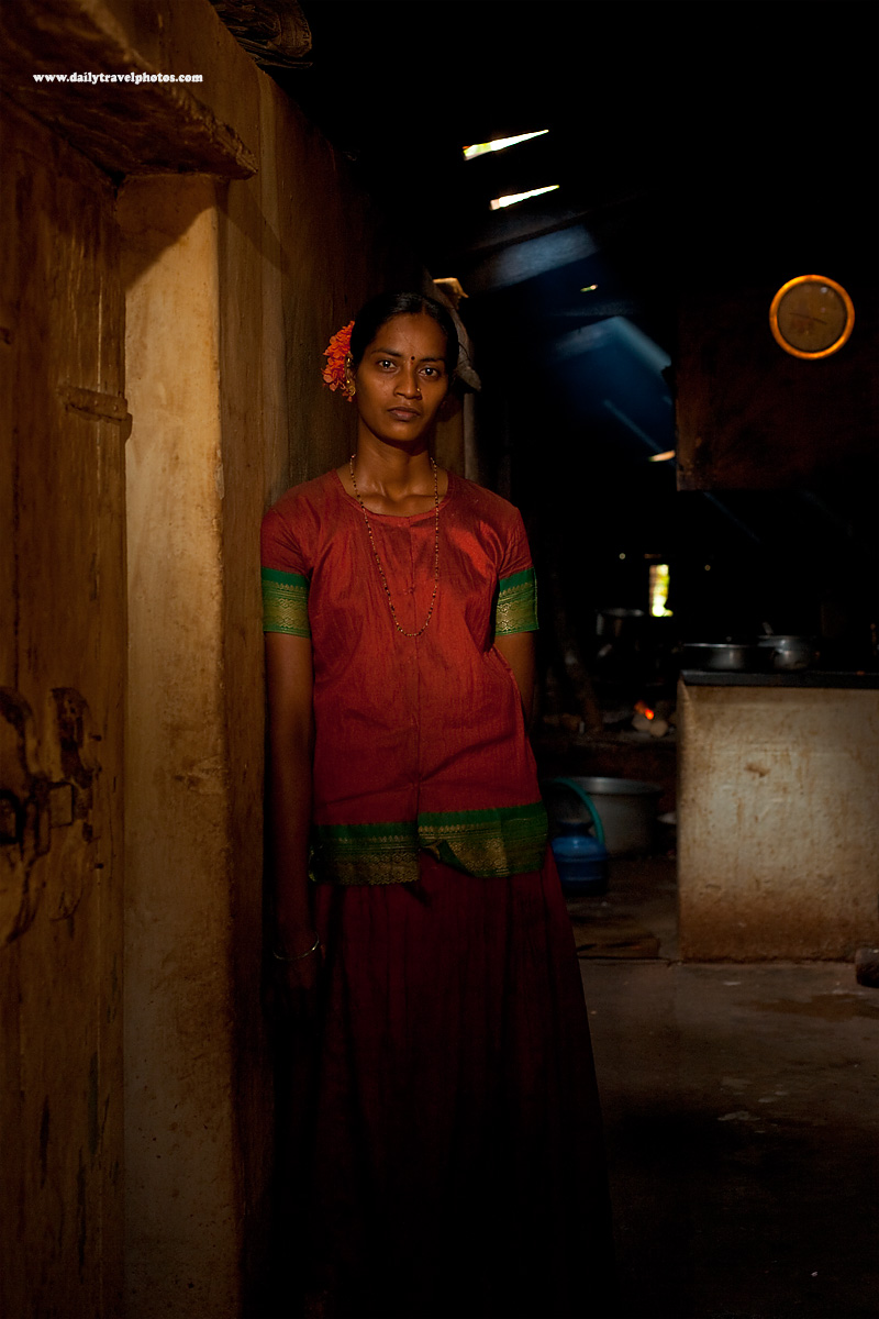 Indian Restaurant Worker Beautiful Slender Tall Dhaba - Gokarna, Karnataka, India - Daily Travel Photos