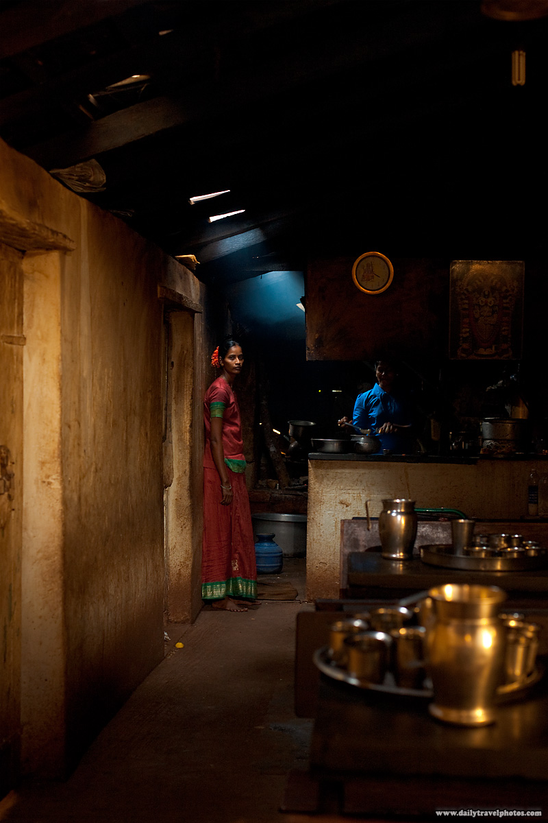 Female Indian Restaurant Workers Kitchen Dhaba - Gokarna, Karnataka, India - Daily Travel Photos