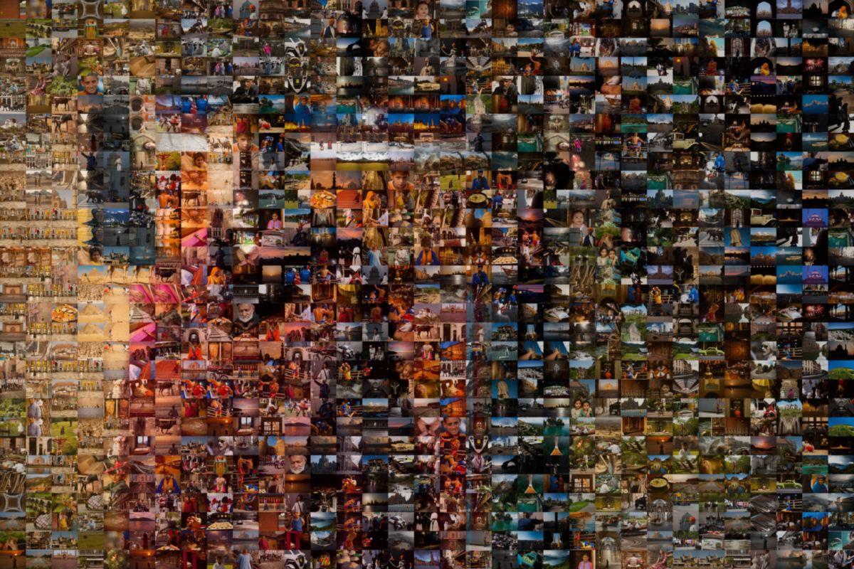 Mosaic Composed of Image Thumbnails Buddhist Monk in Dhankar, India - Dankar, Himachal Pradesh, India - Daily Travel Photos
