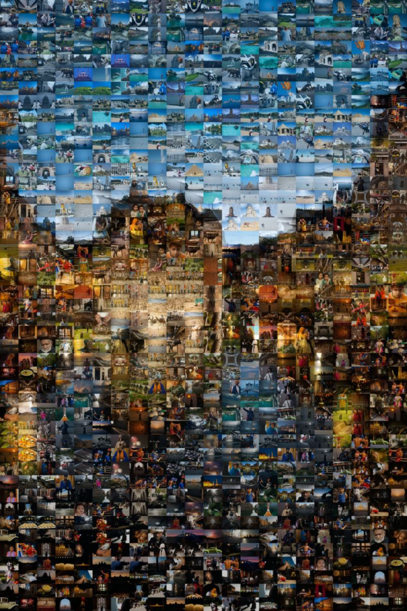 Multi-Image Mosaic of Palais de Li'isle Annecy France - Many Places, Around The World - Daily Travel Photos