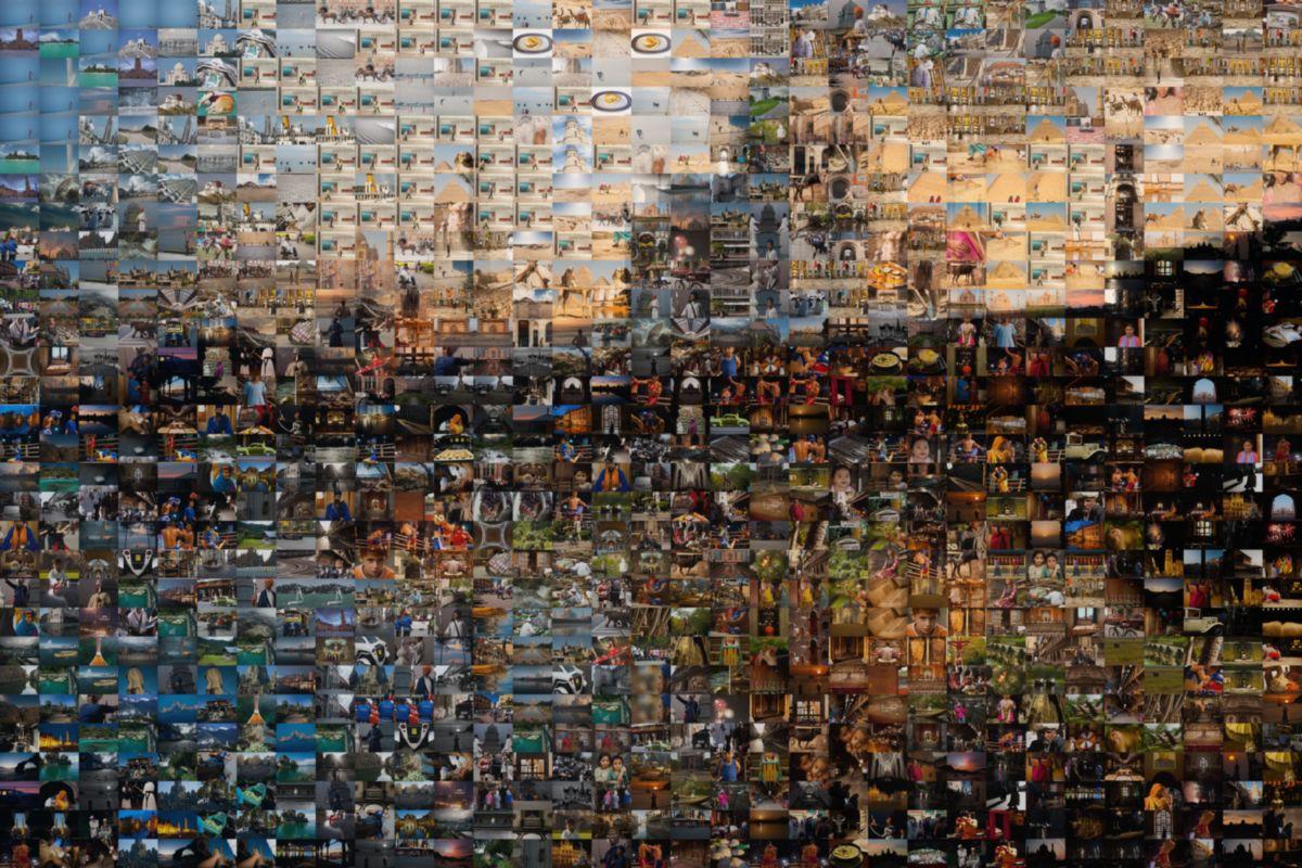 Mosaic From Different Images of the Taj Mahal - Agra, Uttar Pradesh, India - Daily Travel Photos