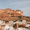 photo: Blue City & Sky - The Mehrangarh fort in Jodhpur as seen from a rooftop restaurant.