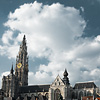 Kathedraal Commons Photo: The Cathedral of Our Lady (Onze-Lieve-Vrouwekathedraal) towers over grand place (groenplaats) square.