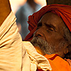 Sleepin' Sadhu Photo: A sadhu, an ascetic Indian holy man, naps in the shade.