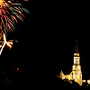 Church Lights Photo: Bastille Day celebration near the Basilica of the Visitation.