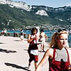 "Finish Focused Photo: Female contestants scurry to the finish line at the ""Waiter's Run"" in Annecy."