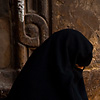 Covered Cairenes Photo: Muslim women in burqas navigate a set of stairs at the Al-Ghouri complex in Islamic Cairo.