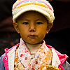 Chic Children Photo: A young Tibetan girl dressed in beautiful traditional clothes walks on the Barkhor in Lhasa (ARCHIVED PHOTO on the weekends - originally taken 2007/10/17).