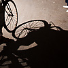 Return Rider Photo: A Muslim man rides his bicycle through the Bazaar of the Tentmakers.
