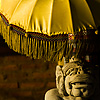 Parasol Protection Photo: A Hindu statue under an ornate umbrella (ARCHIVED PHOTO on the weekends - originally photographed 2006/10/10).
