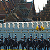 Loyal Subjects Photo: His Majesty's Royal Mounted Guards await the arrival of the King of Thailand for his 83rd birthday decree at the National Palace in Bangkok.