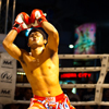 photo: Muay Thai Preparation - A muay thai fighter prepares for his bout by performing a dance-like routine called a wai khru ram muay.