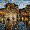 photo: Year-End Mosaics - A multi-image mosaic recreating an image of the Palais de L'isle in Annecy, France.