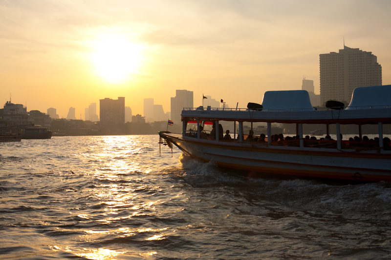 Sunrise Chao Phraya River Boat Taxi - Bangkok, Thailand - Daily Travel Photos