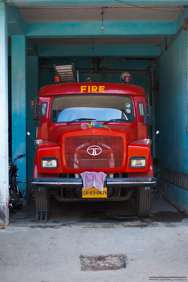 Fire House and Tata Truck - Gangtok, Sikkim, India - Daily Travel Photos