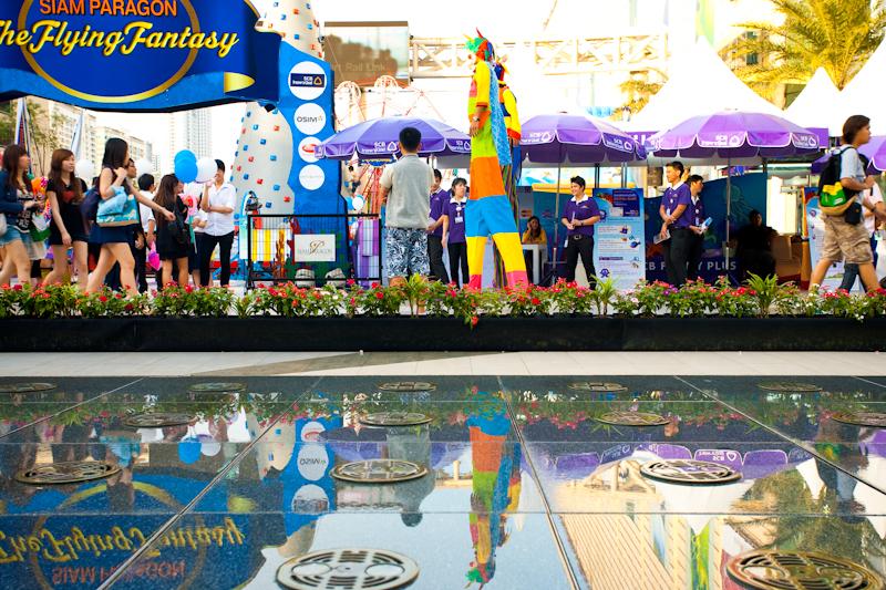Stilt Walking Clowns Mall Event - Bangkok, Thailand - Daily Travel Photos