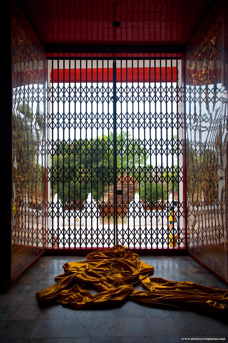 Saffron Monk Robes Disrobed - Ayuthaya, Thailand - Daily Travel Photos