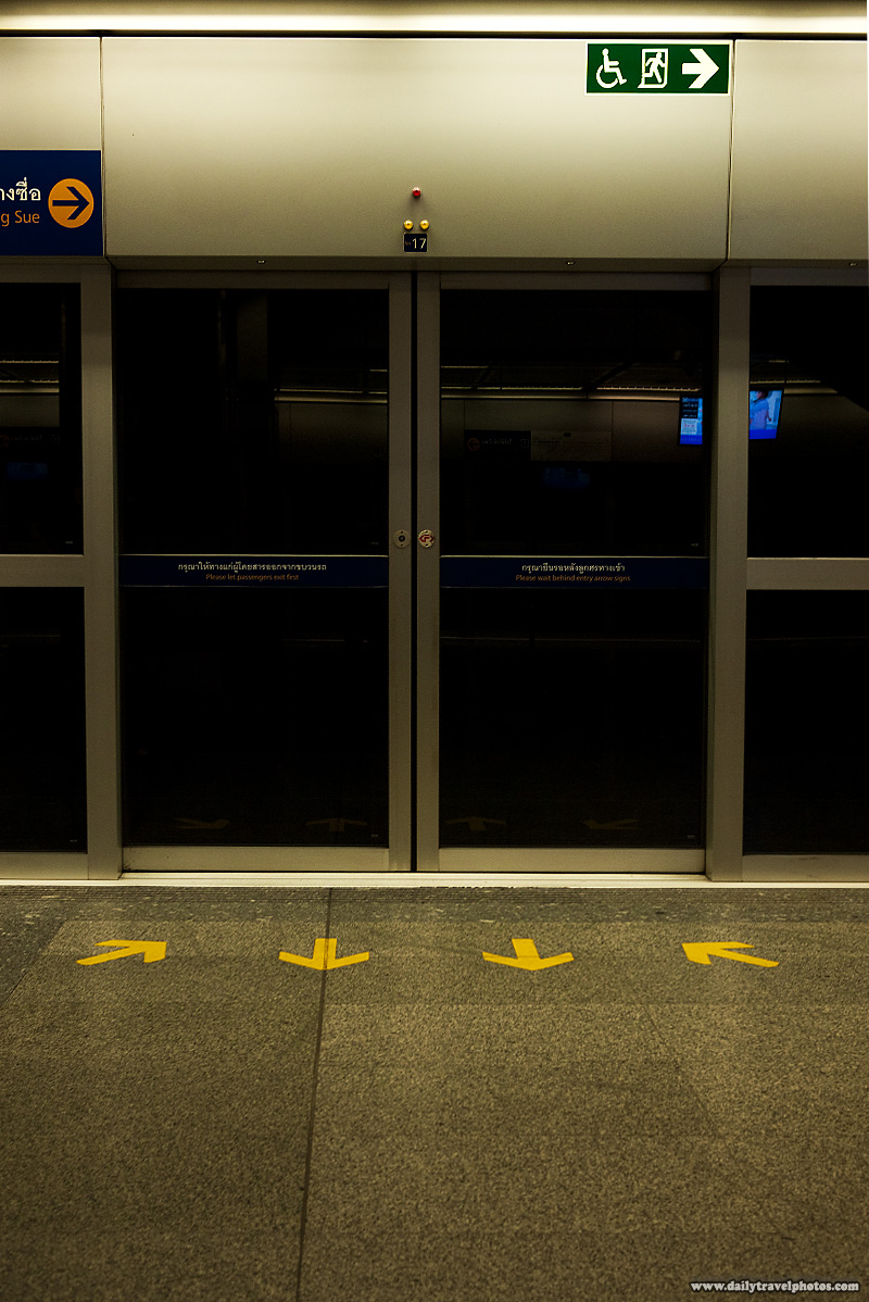 Temperature Controlled Bangkok Subway Doors Platform - Bangkok, Thailand - Daily Travel Photos