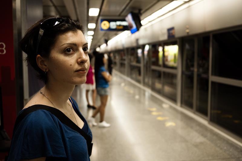 Passengers Wait Subway Train Metro - Bangkok, Thailand - Daily Travel Photos