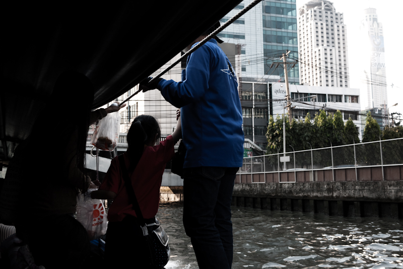 Downtown Canal Boat Buildings Ticket Collector - Bangkok, Thailand - Daily Travel Photos