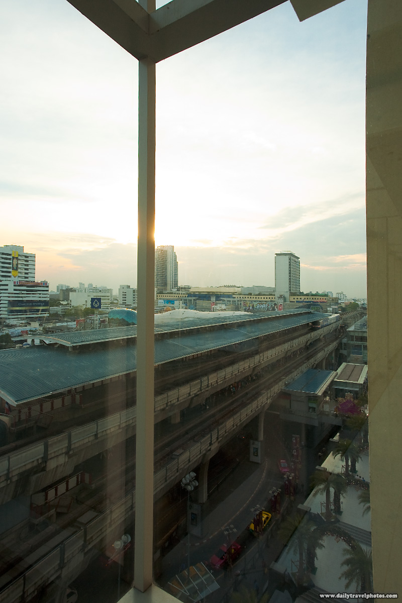 Siam Sky Train Downtown Sunset - Bangkok, Thailand - Daily Travel Photos