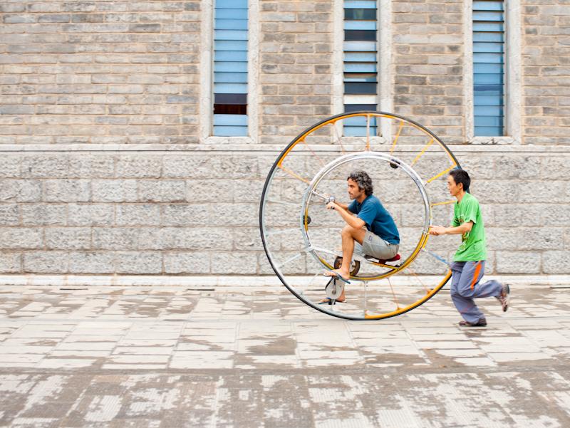 One Single Wheel Bicycle Bike Chinese - Kunming, Yunnan, China - Daily Travel Photos