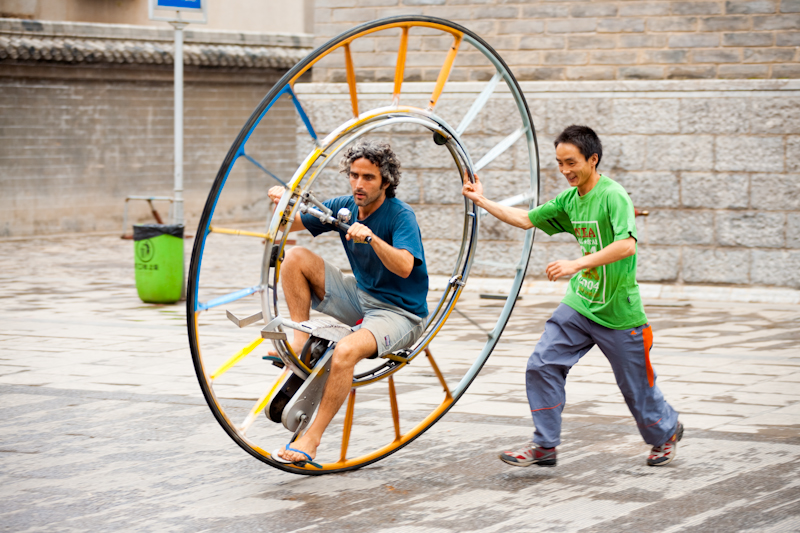 Unique One Wheeled Bicycle Ride - Kunming, Yunnan, China - Daily Travel Photos