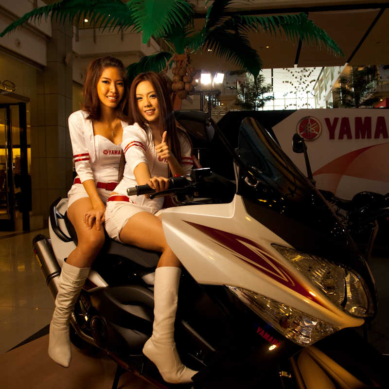 Beautiful Thai Models Yamaha Booth Motorcycle Show - Bangkok, Thailand - Daily Travel Photos