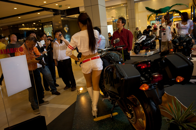 Yamaha Booth Motorcycle Show Photographers - Bangkok, Thailand - Daily Travel Photos