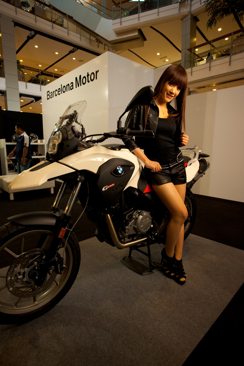 Cute Thai Model BMW Booth Harley-Davidson Motorcycle Show - Bangkok, Thailand - Daily Travel Photos