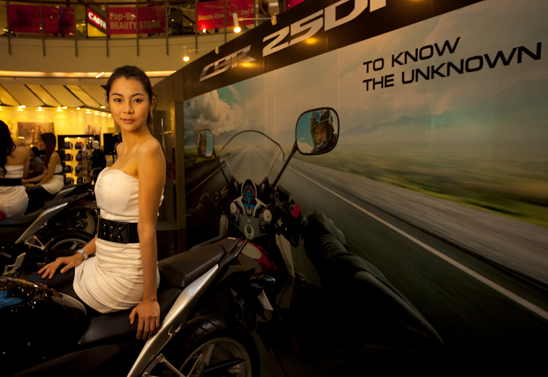Honda Booth Thai Model Motorcycle Show - Bangkok, Thailand - Daily Travel Photos