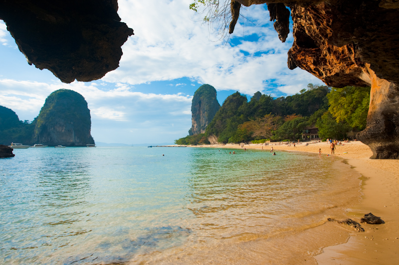 Karst Phranang Beach Cave - Railay, Thailand - Daily Travel Photos