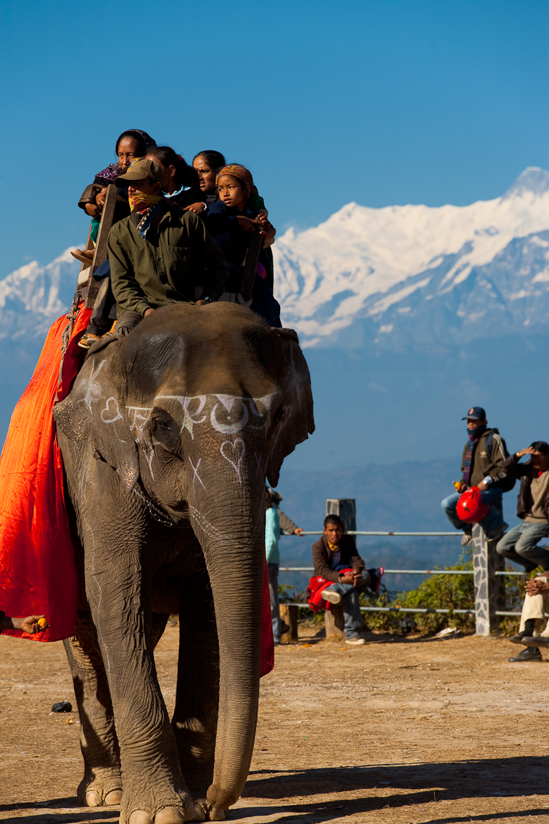 Elephant Ride Carnival Himalayas Mountains - Bandipur, Nepal - Daily Travel Photos