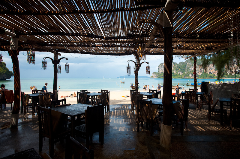 Covered Oceanfront Restaurant Railay Bay Resort & Spa - Railay, Thailand - Daily Travel Photos