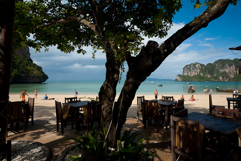 Railay Bay Resort & Spa Patio Restaurant Beachside - West Railay, Thailand - Daily Travel Photos