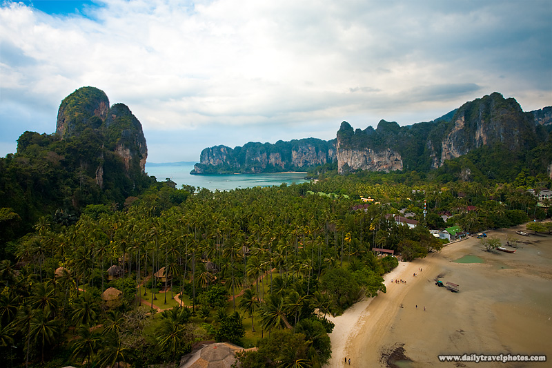 Beautiful Aerial View West And East Railay - Railay, Thailand - Daily Travel Photos