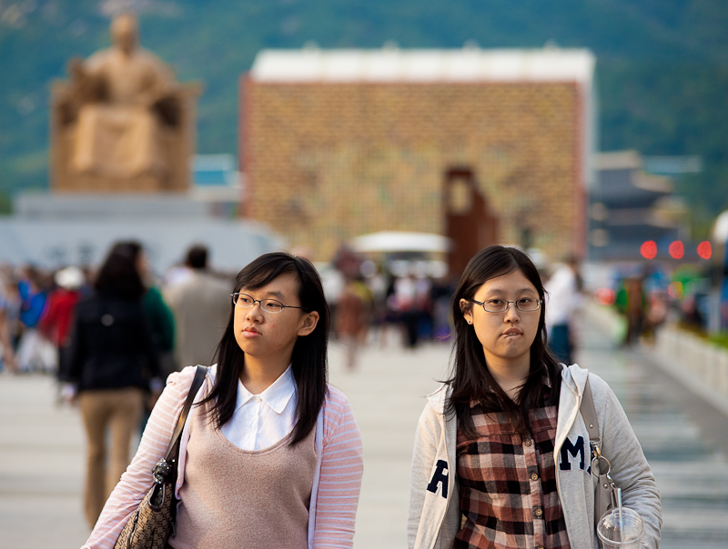 Korean Students Walking Downtown Gyeongbokgung Sejong - Seoul, South Korea - Daily Travel Photos
