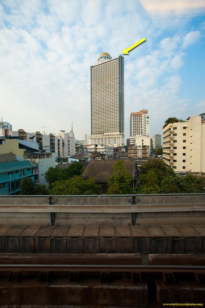 State Tower Lebua Sky Bar Ground View Skytrain - Bangkok, Thailand - Daily Travel Photos