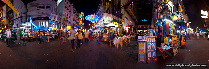 Khao Kao San Road Panorama Midway - Bangkok, Thailand - Daily Travel Photos